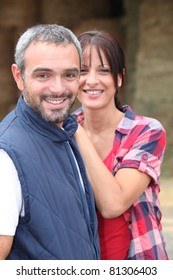 couple in their farm