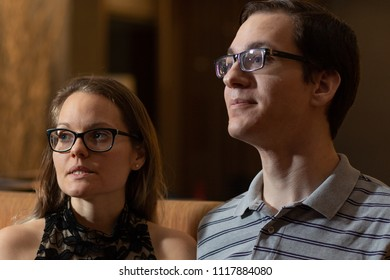 Couple watching a movie together