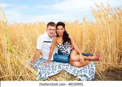 A couple in the wheat field
