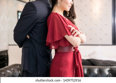 The couple who is in the luxurious room