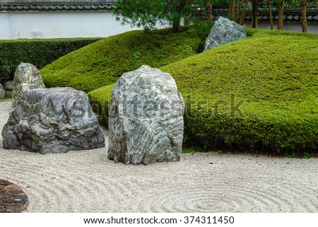 Gentil Couple Of Zen Garden Stones