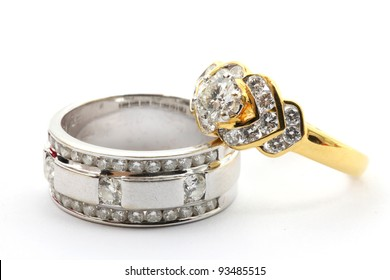 Couples Luxury Diamond Wedding Ring for Together Love in Valentine Holiday Concept