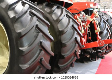 Coupling unit of the tractor. Wheels.
