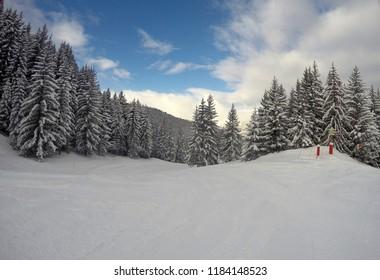 Courchevel 1850 skii resort.