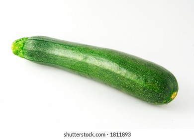 Courgette on white background