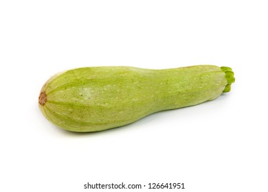 Courgette/zucchini. Isolated on a white background