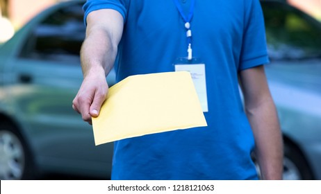 Courier Delivery Envelope Images, Stock Photos & Vectors