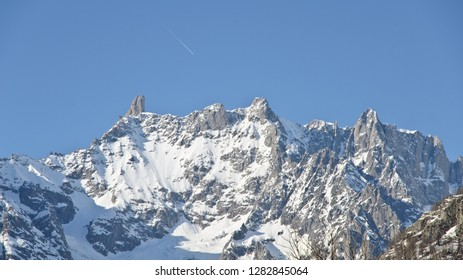 Courmayeur, Italy - March 11, 2014: Big tooth