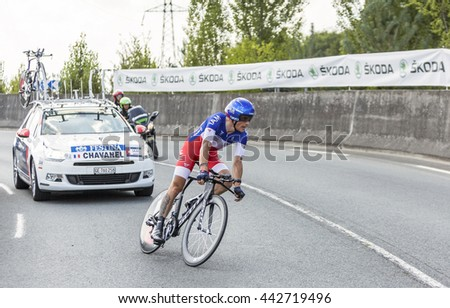 d3d008fac COURSACFRANCEJUL 26 The French Cyclist Sylvain Chavane Stock Photo ...