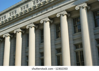 Court Building Pillars