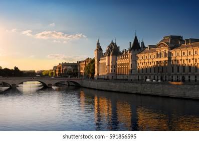 Court of Cassation on Seine in Paris, France.