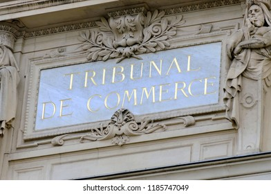 court of commerce of Paris in France, trading courthouse