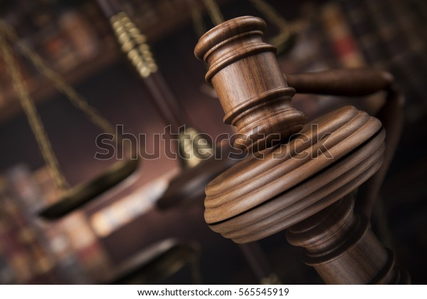 Court gavel,Law theme, mallet of justice
