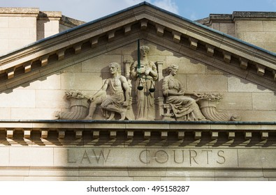 Court House and Scales of Justice