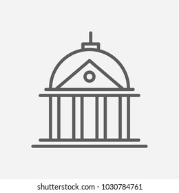 Court icon line symbol. Isolated  illustration of  icon sign concept for your web site mobile app logo UI design.