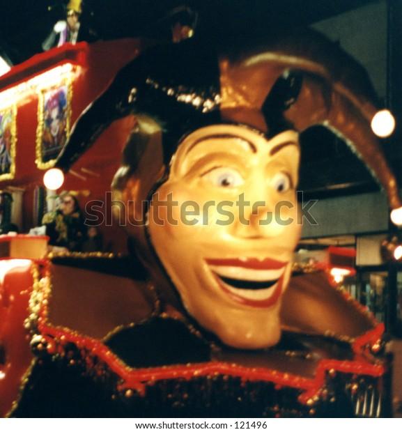 Court Jester on Mardi Gras Float