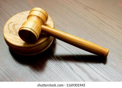 court judgment wooden hammer