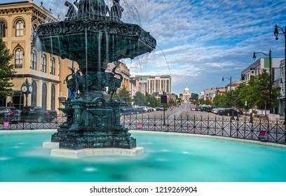 Court Square Fountain - Artesian Basin in Montgomery, Alabama