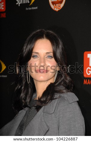 Courteney Cox TV GUIDE Magazines Hot Stock Photo (Edit Now