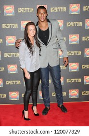 Courtney Lawes at the Led Zeppelin Celebration Day DVD screening launch held at Hammersmith Apollo London. 12/10/2012 Picture by: Henry Harris