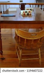 Courtroom table and chair
