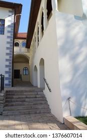 Courtyard of Budatín castle, Žilina region, Slovakia