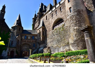 Courtyard at Castle Reichsburg Cochem Germany.