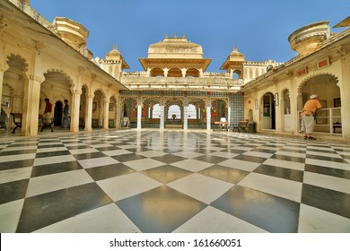 Courtyard at City Palace, Udaipur
