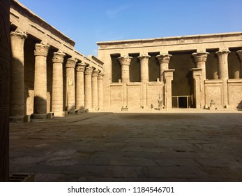 Courtyard at Edfu temple in Egypt