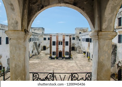 Courtyard of Elmina Castle, Elmina, Central Region, Ghana.