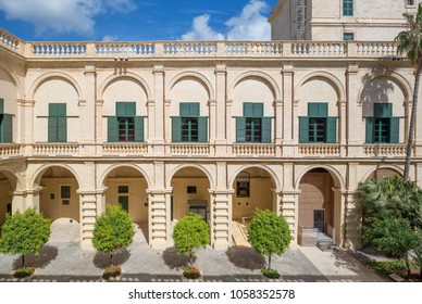 Courtyard of the Grand Master's Palace. Located in Valletta, Malta. 13 March 2018