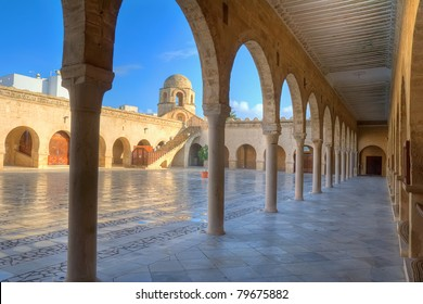 Courtyard of the Great Mosque in Sousse, Tunisia