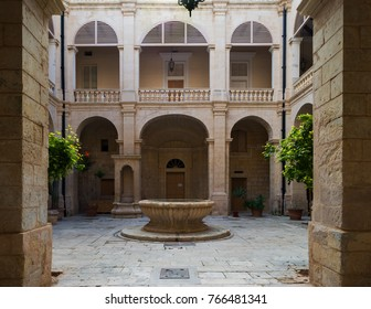 Courtyard in historic city of Mdina, Malta