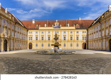 Courtyard of the historic Melk Abbey, Austria