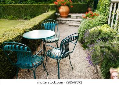 Courtyard of an Italian villa.