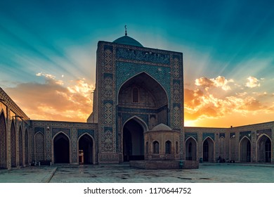 Courtyard of Kalyan Mosque at sunset, Bukhara, Uzbekistan