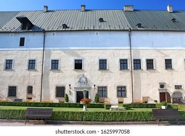 Courtyard of medieval Cerveny Kamen (Red Stown) Castle near Casta village, Slovakia - Shutterstock ID 1625997058