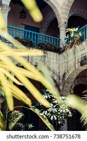 A courtyard in old Havana, Cuba.