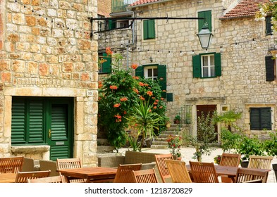 Courtyard in the Old Town - Stari Grad, Croatia
