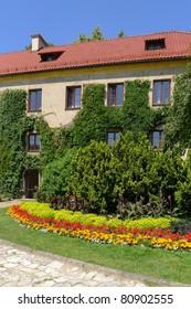 Courtyard of Pieskowa Skala castle