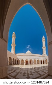 Courtyard of Sultan Qaboos Mosque in Salalah, Oman
