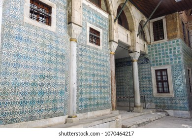 Courtyard at the Topkapi Palace, Istanbul, Turkey. Topkapi Palace was the primary residence of the Ottoman sultans for approximately 400 years
