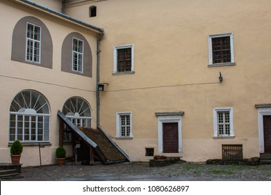 The courtyard of the Uzhhorod castle. Ukraine