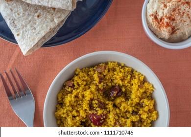 couscous closeup in bowl