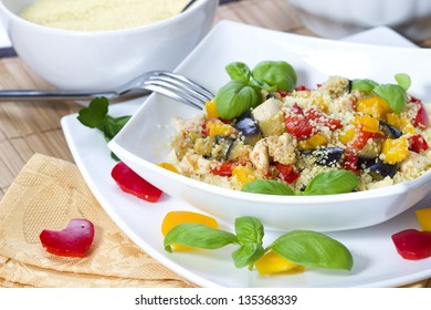 Couscous dish with mixed vegetables