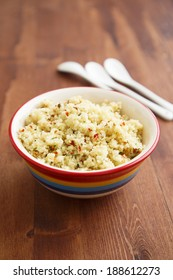 Couscous with herbs and tomatoes