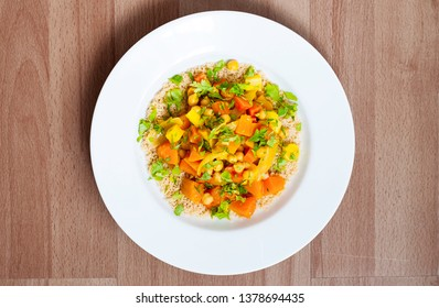 Couscous salat with chickpeas and carrots
