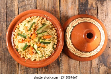 couscous with vegetable in tajine