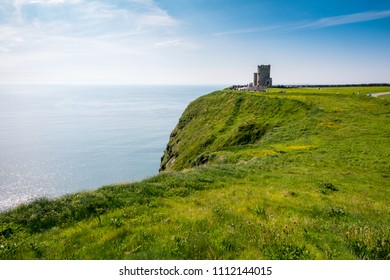Coutryside view from Cliffs of Moher in County Clare - Ireland