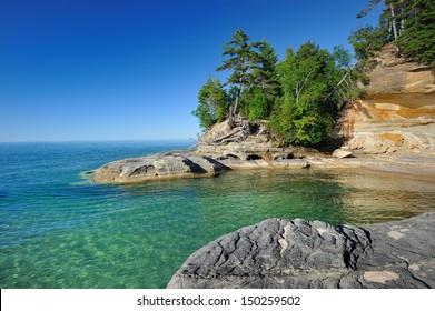 Cove along Lake Superior Pictured Rocks National Lakeshore